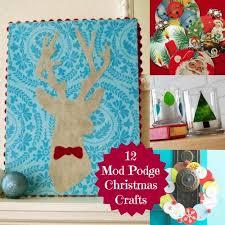 12 Mod Podge Christmas Crafts
