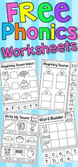These kindergarten phonics worksheets feature rhyming words for short and long vowel sounds. Pin On Kindergarten