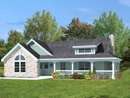 amazing one story house plans with porches