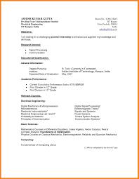 Cv Template Undergraduate Student Sample Resume Format Resume