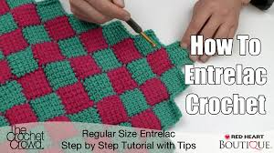 Crochet Patterns For Beginners Step By Step Classy Entrelac Afghan Pattern Tutorial The Crochet Crowd