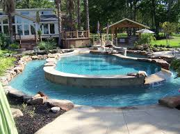 inground pools with waterfalls and hot tubs interesting waterfalls average cost of inground pool and