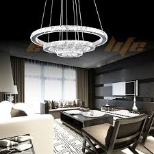 chandelier modern crystal chandeliers modern chandeliers for foyer circle with 3 levels crystal lamp jpg