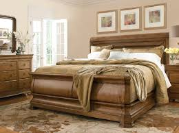 4 piece pennsylvania house solid wood queen size sleigh bed set for