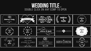 Wedding Title Template Wedding Title After Effects Templates Motion Array