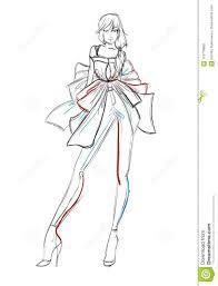 стильные фотомодели эскиз девушки моды иллюстрация вектора