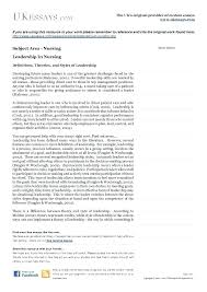 Leadership Essays Examples Nursing Essay Example Topics For Nursing