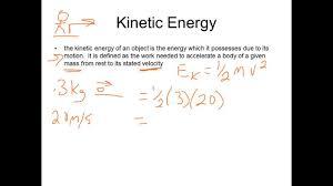 Kinetic Energy Formula Examples