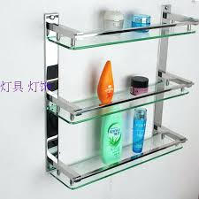 ikea bathroom shelf creative bathroom shelving glass shelf stainless steel frame bathroom towel rack shelf storage
