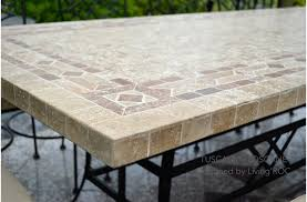 outdoor stone dining table top italian patio mosaic tuscany 78 outdoor patio table t6