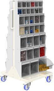 Unibox cassettiera 6 cassetti basculanti in plastica ultra traspare