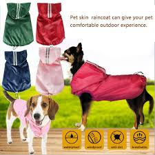 Designed 4 Dogs 4 Colors Fashion Designed Pet Raincoat Dog Clothes Light