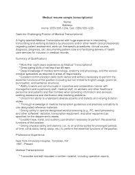 resume examples medical transcription resume medical resume examples resume medical transcriptionist example handsomeresumepro com medical transcription resume medical transcriptionist
