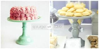 DIY Milk Glass Cake Stand splurge v. save