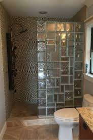glass block in bathroom