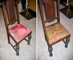 upholster dining room chair recover chairs recovering how to a best upholstering with piping full