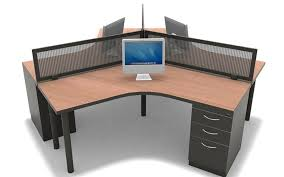 person office desk. #161 \u2013 120 Degree 3 Person Desking Office Desk