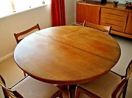 vintage retro g plan round extending dining table 6 matching chairs