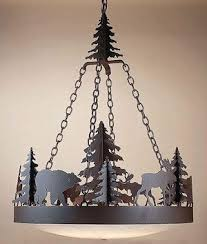 rustic lighting chandeliers. Frontiersman Chandelier With Moose \u0026 Grizzly Found In Our Rustic Chandeliers At Home Furniture Design Ideas. Lighting