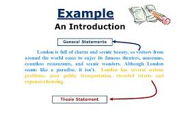 organizing an academic essay introduction conclusion body  4 example an introduction general statements