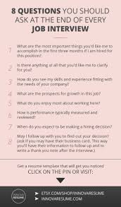 Career Infographic Questions You Should Ask At The End Of Every