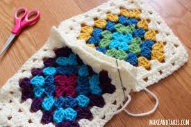 Patching Up My Granny Square Blanket | Make and Takes & Whipstitch for Crochet Granny Square Blanket Adamdwight.com