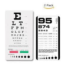 Pocket Snellen Chart Eye Examination Medical Reference