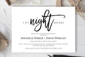 Dinner Invation The Night Before Wedding Rehearsal Dinner Invitation Card