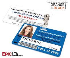 Staff The Badge Natalie Black Id New - Inspired Litchfield Orange Wearable Penitentiary Is Figueroa