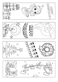 Christmas Bookmark Coloring Page Marcapáginas Con