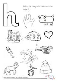 Small Picture Letter H Colouring Pages