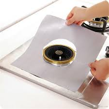 gas stove burner cover. Reusable Aluminum Foil Gas Stove Burner Cover Protector Liner Clean Mat Pad File Injuries Protection Wholesale B