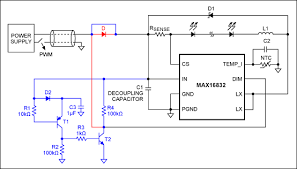simple detection circuit lowers stress on led driver power this circuit including the circuitry in blue and out the diode in