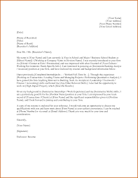 Sample Cover Letter For Internship In Investment Banking Cover