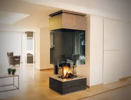 gas fireplace contemporary open hearth 3 sided