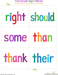 sight word 1st grade printable 1st grade sight word flashcards education com