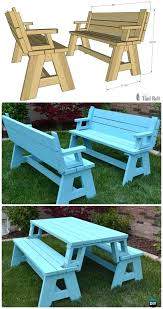 diy patio table convertible picnic table and bench free plan instructions outdoor patio furniture ideas diy