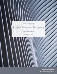 Project Proposal Template Free Sample Bidsketch