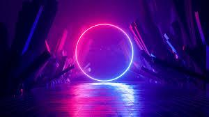 Neon Ring 4K wallpaper