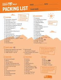 2018 Relay Essentials The Ultimate Packing List Blognar