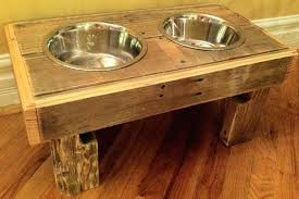 dog bowl stand plans wood dish holder raised stunning holders on furniture with reclaimed rustic pallet pet by wooden uk audacious depiction robmelanson