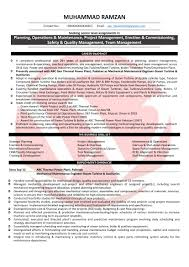 Power Plant Mechanical Engineer Resumes Mechanical Engineer Sample Resumes Download Resume Format