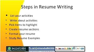 Steps To Write Resume – Foodcity.me