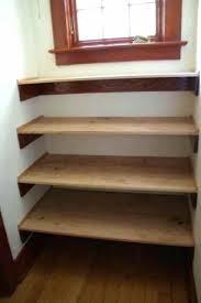 wood closet shelving diy shelves photo 5 of 9