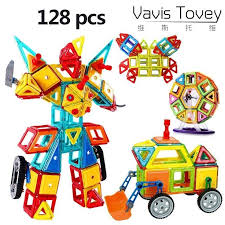 <b>Vavis Tovey Magnetic</b> Building Blocks Designer kits 128Pcs with ...