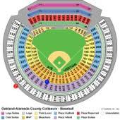 O Co Coliseum Seating Chart Baseball Oakland Coliseum Oakland As Ballpark Ballparks Of Baseball