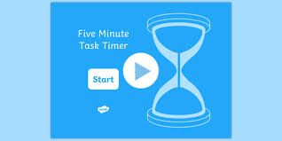 5 Minute Powerpoint Timer 5 Minute Task Timer Powerpoint Visual Aid Presentation