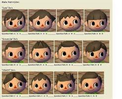 Animal crossing new leaf face guide. Animal Crossing Wild World Boy Hair Guide