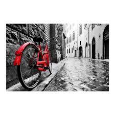 yosemite home decor 47 in x 32 in the red bike tempered