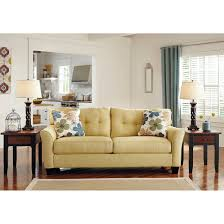 Add a bright touch to your living space with this contemporary Kylee sofa  from Ashley Furniture
